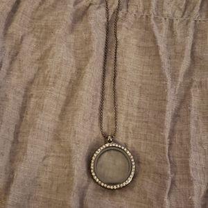 "Jewelry - Black chain with locket, 27"". NWT"